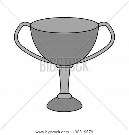 Silver trophy over white background vector illustration