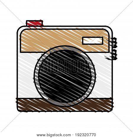 Vintage camera over white background vector illustration