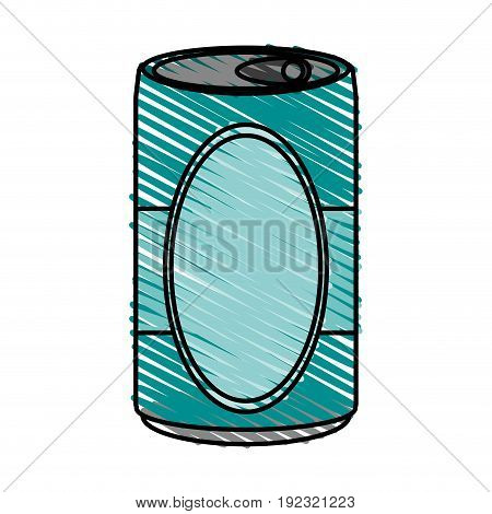 soda can doodle over white background vector illustration