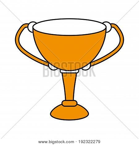 Flat line trophy over white background vector illustration