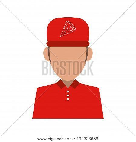 Pizza clothes messenger icon vector illustration design graphic
