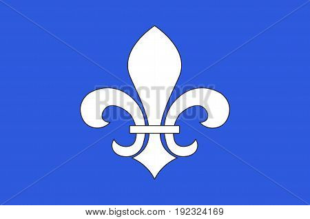 Flag of Soissons is a commune in the Aisne department in Hauts-de-France in northern France. Vector illustration