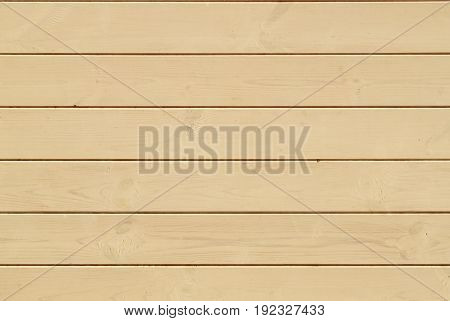 Light Wooden horizontal Wall Planking Texture. Solid Wood Slats Rustic Background. Horizontal Wood Board Panel.