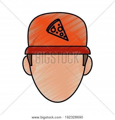 Pizza clothes messenger icon vector illustration design doodle