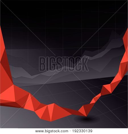 Red Stock Market Graph and Bar Chart