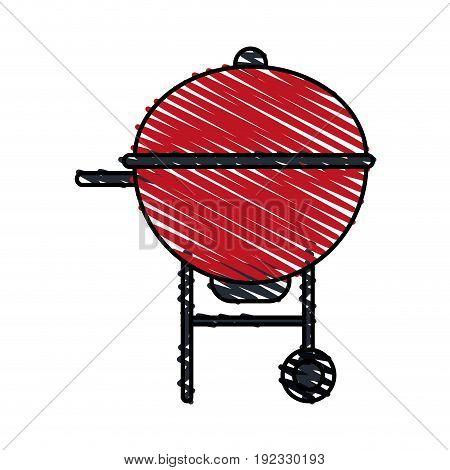 roaster food hot icon vector illustration design doodle