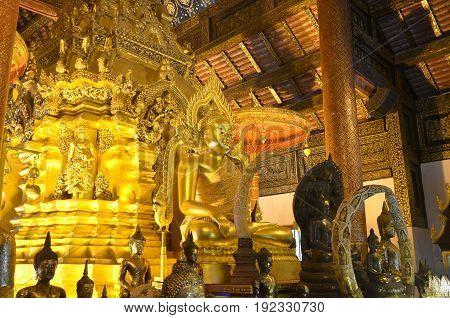 Golden Buddha statue in Thailand Buddha Temple.