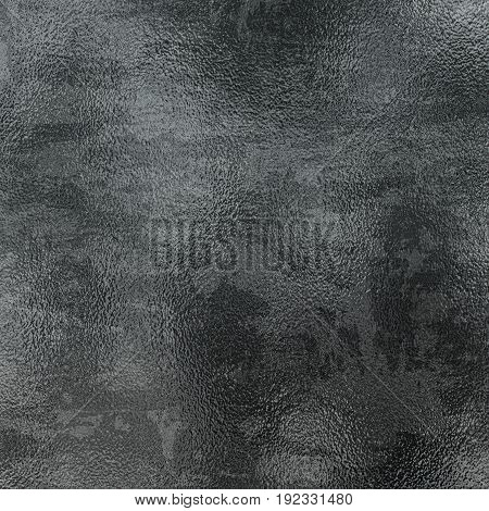 Silver foil texture grey metallic background.