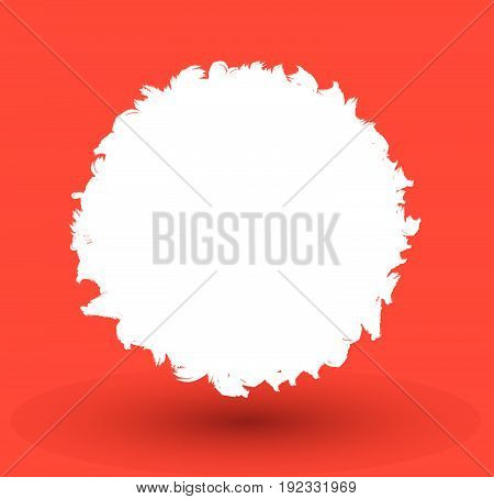 Background with copy-space.Vector illustration on red background.