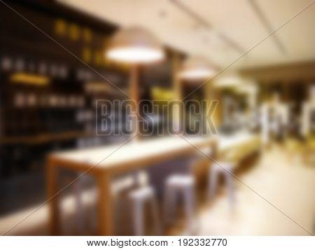 restaurant blurred background or cafe bar blurred background