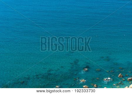 Sea And Coastline View From A Rocky Height