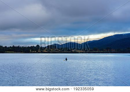 Beautiful Lake Te Anau is the second-largest lake in New Zealand South Island of New Zealand