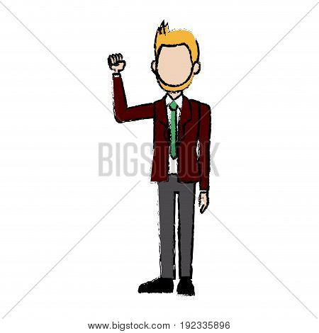 business man character campaing staff people vector illustration