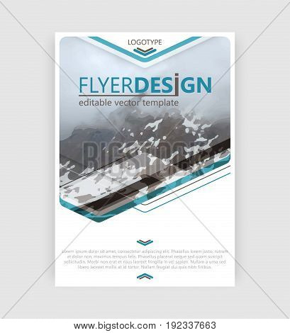 Business Flyer Template. Booklet Cover, Brochure Or Corporate Banner. Vector Design.