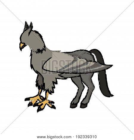 hippogriffi horse bird mithology character vector illustration