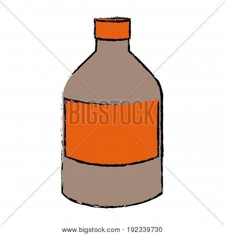 bottle medicine pharmacy health supply vector illustration