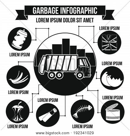 Garbage infographic banner concept. Simple illustration of garbage infographic vector poster concept for web