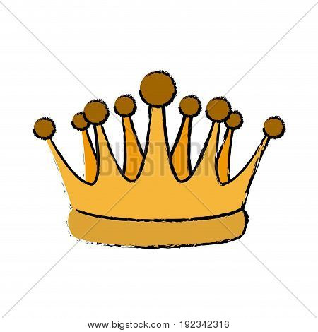 gold crown royal luxury monarchy king vector illustration