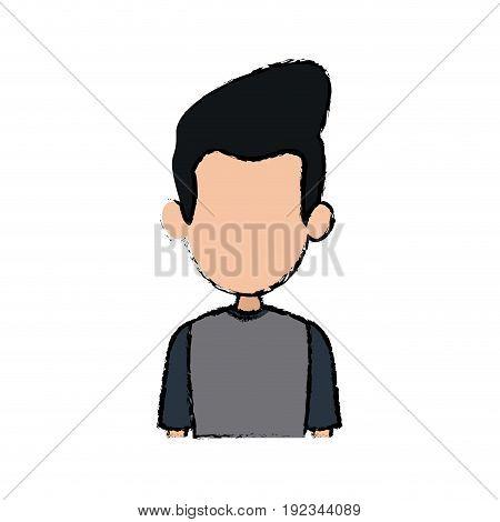 portrait man male character profile avatar people vector illustration
