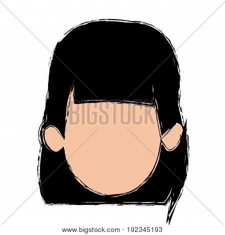 portrait female woman avatar people vector illustration