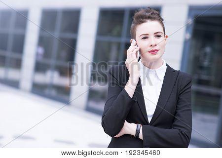 Modern Business Woman Talking On Phone