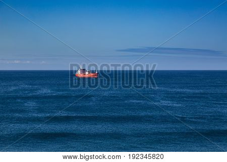 Sao Rogue, Azores, Portugal - May 16, 2017: Coast Sao Rogue On Sao Miguel Island