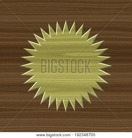 Ecru natural style eco wood texture 3d board circle wheel