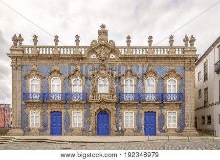 Baroque City Palace Raio in the streets of Braga in Portugal