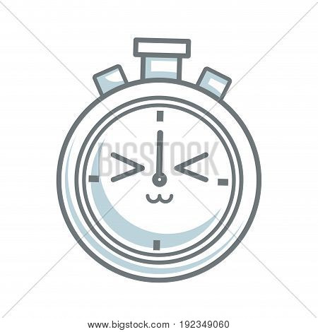 kawaii stopwatch clock competition timer vector illustration