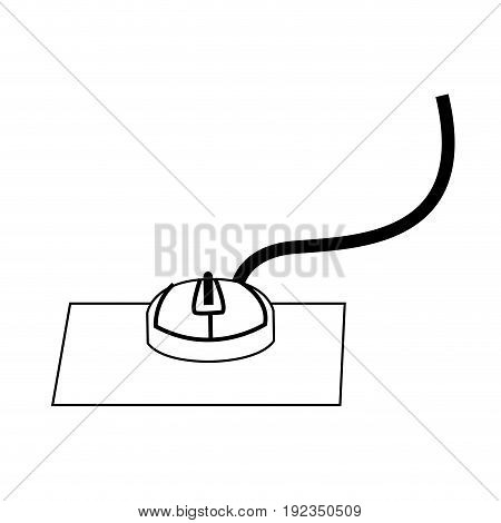 computer mouse icon equipment technology electronic vector illustration