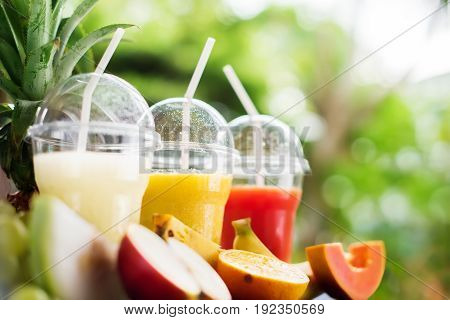 Party Time Fresh Smoothie Juice Fruits Summer