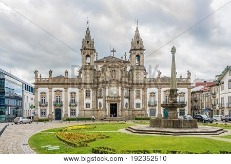 BRAGA,PORTUGAL - MAY 14,2017 - Church Sao Marcos in Braga. Braga was under the Roman Empire known as Bracara Augusta.