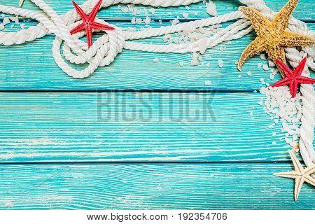 Marine nautical blue background decoration business sign