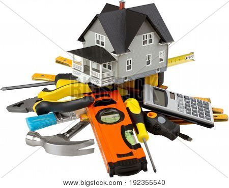 Model house tools non-urban scene home interior real estate residential district