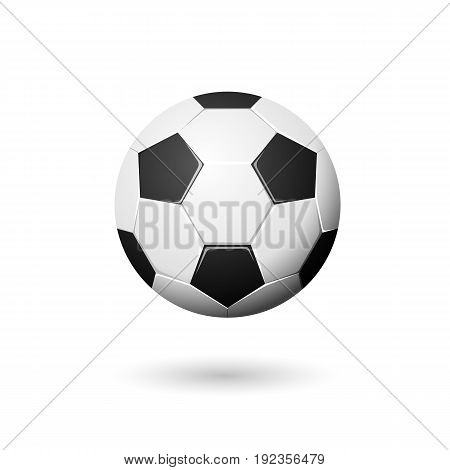 Vector soccer ball background, isolated on white.