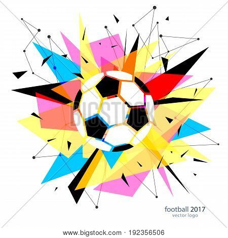 Football championship poster, flyer template. Soccer tournament banner creative design. Vector illustration