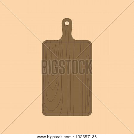 Wooden chopping sheet, flat design vector icon