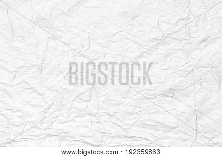 Abstract White Creased Paper Background Texture.