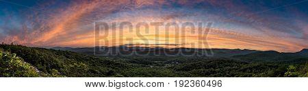 Evening Panorama From Flat Rock Overlook