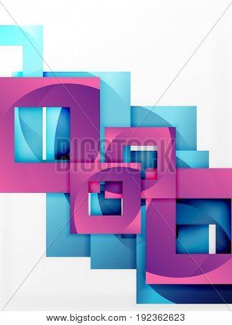 square template background design
