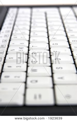 Closeup Of Laptop Keyboard