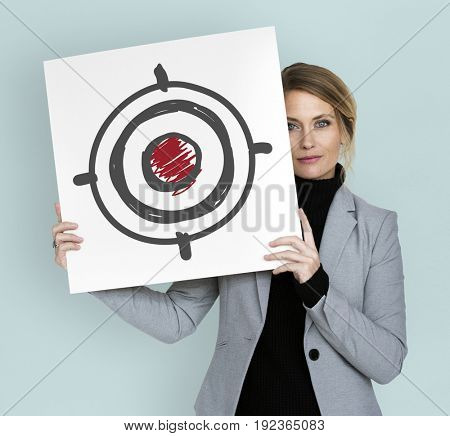 Business goal aim target success achievement