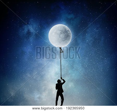 He is going to get the moon