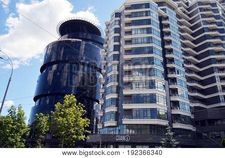 Modern residential area .June 21 ,2017 in Kiev, Ukraine