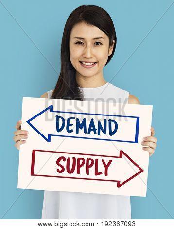 Demand Supply Decision Choice Arrow Word