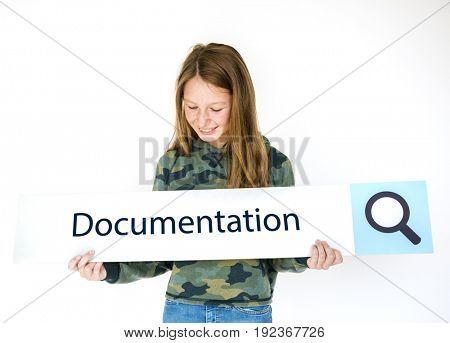 Data Information Sharing File Folder Graphic