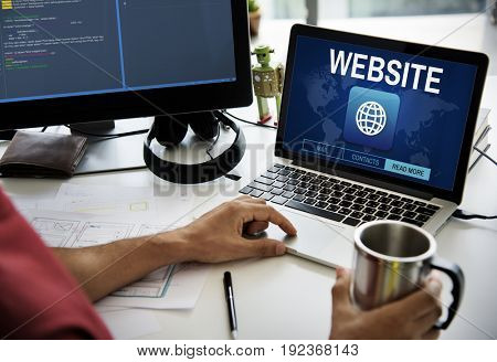 Website Webpage Information Content Concept
