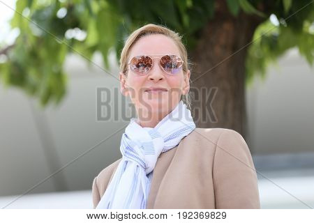 Uma Thurman attends the Jury un Certain Regard photocall during the 70th annual Cannes Film Festival at Palais des Festivals on May 18, 2017 in Cannes, France.