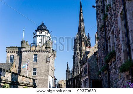 antique church building in Edinburgh, Scotland