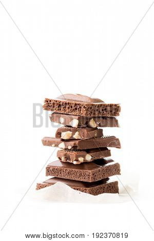 Chocolate porous, milky, with nuts